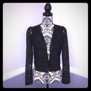 MichaelStars Lace LongSleeve Lace ButtonUp Blouse!